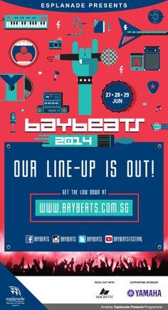 Esplanade Presents: Baybeats 2014  Poster