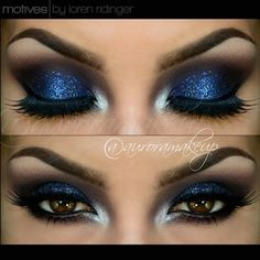 Motives®: Burgundy Smokey Eye with Blue Look by Aurora Glez