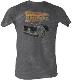 Go BACK TO THE FUTURE in this cool vintage 80s movie tee.