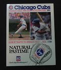 Wrigley Field 1988 Scorecard From First Night Game Chicago Cubs