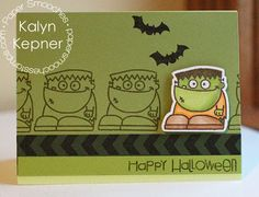 Happy Halloween card by Kalyn Kepner for Paper Smooches - Halloweenies stamps & dies, Borderlicious stamp set