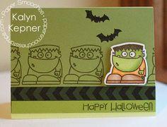 Happy Halloween card by Kalyn Kepner for Paper Smooches - Halloweenies stamps & dies, Borderlicious stamp set