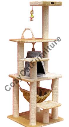 add these toys and ropes to Scooter's cat tower