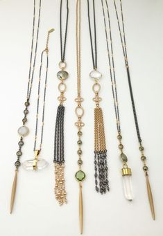 Mixed metal one of a kind necklaces by Lisa Jill Jewelry. For purchasing email lisajilljewelry@gmail.com