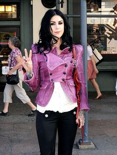Not really a Kat Von D fan (at all), but this jacket/pants combo is amazing.