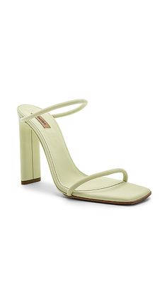 fbf318a7cedd Shop for YEEZY Season 6 Minimal Sandal in Faded Neon Yellow at REVOLVE.