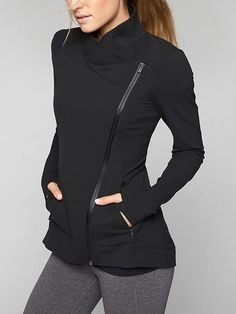 ATHLETA INTENTION JACKET - A versatile piece to throw on post-practice, this jacket is made from our signature Powervita to be wicking, breathable and stretchy. Workout Attire, Workout Wear, Post Workout, Looks Academia, Estilo Fitness, Sport Fashion, Womens Fashion, Sporty Outfits, Active Wear For Women