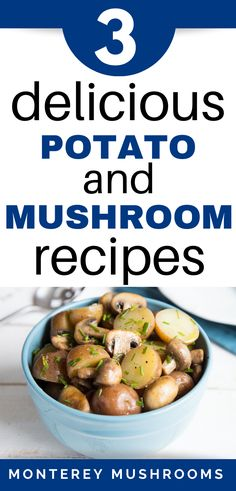 These easy potato recipes get a step up nutritionally by adding mushrooms! Try these cheap potato recipes and enjoy. Potato Mushroom Recipe, Baby Bella Mushroom Recipes, Best Mushroom Recipe, Tasty Potato Recipes, Healthy Dinner Recipes, Great Recipes, Snack Recipes, Mushroom Side Dishes, Rice Side Dishes