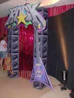 rock party photo booth
