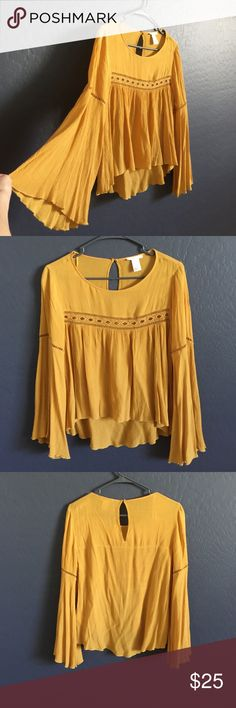 Boho shirt Boho shirt , mustard color, very good condition , worn once. H&M Tops Camisoles