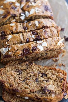 Toasted Coconut and Chocolate Chunk Roasted Banana Bread AB: Is very good.  But baked it for  well over 60 minutes.