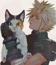 Uzucake Final Fantasy Vii Remake, Artwork Final Fantasy, Final Fantasy Cloud, Final Fantasy Characters, Fantasy Series, Fantasy World, Final Fantasy Anime, Cloud And Tifa, Colors