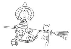 Too Cute Witch | Dearie Dolls Digi Stamps