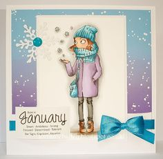 LOTV - Thoroughly Modern Misses January by Lorraine Bailey Lily Of The Valley, Capricorn, Cardmaking, Christmas Cards, Lorraine, Modern, Card Ideas, January, Stamps