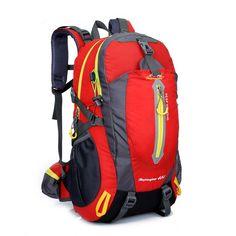 Backpacks Type: SoftbackCarrying System: Arcuate Shoulder StrapExterior: Silt PocketSize: 40 LInterior: Interior Slot Pocket,Cell Phone Pocket,Interior Zipper P Rucksack Backpack, Hiking Backpack, Travel Backpack, Travel Bags, Climbing Backpack, Bicycle Bag, Outdoor Backpacks, Waterproof Backpack, Men Hiking