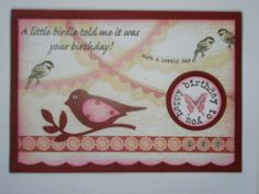 The ever versatile Stampin Up bird punch again.