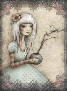 ☆by Leanne Ellis santoro mirabelle Anni Downs, Santoro London, Art Carte, Different Kinds Of Art, Doll Painting, Doodles, Scrapbook Paper Crafts, Whimsical Art, Rock Art
