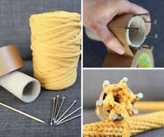 Easy healthy breakfast ideas on the good day song Spool Knitting, Knitting Patterns, Weaving Projects, Crochet Projects, Diy Arts And Crafts, Diy Crafts, Peg Loom, Crochet Cross, Diy Keychain