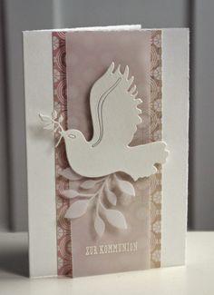card communion Karte Konfirmation - kort - dove peace Christ - So langsam...