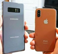Choose, Samsung Galaxy note 8 or the iPhone X