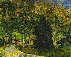 Van Gogh, percorso nel parco, settembre 1888. Olio su tela, 73 x 92 cm. Kröller-Müller Museum, otterlo.