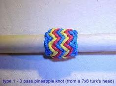 Type 1 - 3 pass pineapple knot (from a 7x6 turk's head)