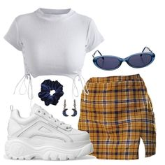 Casual outfit inspo, how to wear check skirts and Chunky sneakers Teen Fashion Outfits, Edgy Outfits, Swag Outfits, Retro Outfits, Cute Fashion, Look Fashion, Vintage Outfits, Fashion Ideas, Polyvore Outfits Casual