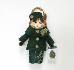 Vintage Style Christmas Ornament HOLIDAY SHOPPING by HolidayCat, $16.50