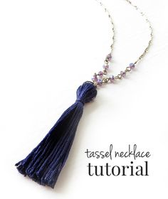 DIY Tassel Necklace - the tassel is made out of embroidery thread! I can't believe how inexpensive this is.
