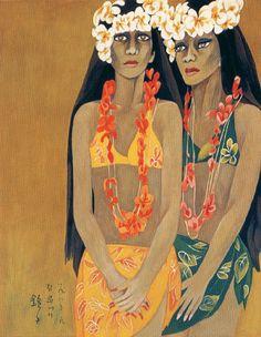 (Korea) Two Guam Women by Chun Kyung-ja (1924-2015).