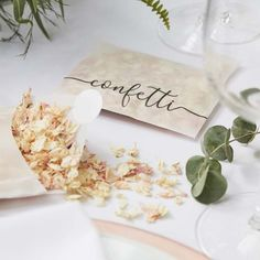 The wedding confetti envelope brings a romantic flair to your celebrations. Its metallic bronze 'Confetti' printed envelope is filled with ivory and pink dried floral petals. Rose Petal Confetti, Paper Confetti, Wedding Confetti, Biodegradable Confetti, Biodegradable Products, Dried Rose Petals, Dried Flowers, Flower Petals, Hen Party Decorations