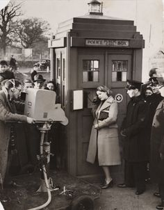 BBC making programme about driving errors. It's so strange to see a Police telephone box out of a Doctor Who context! Doctor Who, Ninth Doctor, Dr Who, Bbc, Police Box, Police Call, Don't Blink, Torchwood, Thats The Way