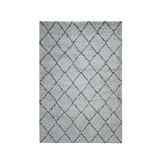 Vloerkleed Pluma ruiten- beige - 200x290 cm | Leen Bakker