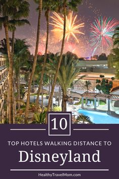Looking for a hotel that is walking distance to Disneyland? Here are ten fun and family-friendly hotels that will save time, money, and make your vacation as stress-free as possible! #disneyland Hotels Near Disneyland, Disneyland Secrets, Disneyland Vacation, Disneyland California, Disney California Adventure, Disney Vacations, Disney Trips, Family Vacations, Cruise Vacation