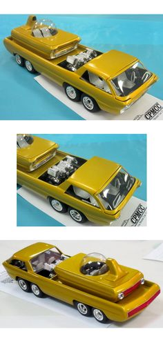 Heavily customized AMT Deora car model. Model Cars Kits, Kit Cars, Wells, Truck Scales, Plastic Model Cars, Matchbox Cars, Dodge Trucks, Sweet Cars, Diecast Models