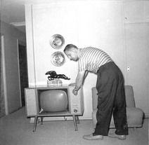First Tv, Rabbit Ears, Vintage Tv, Mid Century, Poses, Figure Poses, Retro