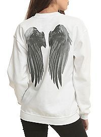 HOTTOPIC.COM - Supernatural Castiel Wings Girls Pullover Top