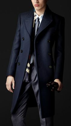 fanciest-world-ever:  Wool Felt Tailored Coat by Burberry  So, it may be unisex