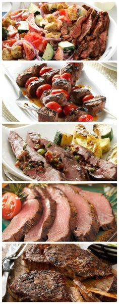 Top 10 Grilled Steak Recipes from Taste of Home including: Peppered Ribeye Steaks, Grilled Steaks with Mushroom Sauce, Balsamic-Glazed Beef Skewers, Easy Marinated Flank Steak and more!