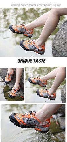 Outdoor Sport Mens Orange Mesh Athletic Hiking Shoes Sandals 5.5 Medium (D)  #OutdoorSport #AthleticSneakers