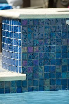 - Lightstreams Glass Pool Tile | Peacock Blue A Northern CA Our perfect spa!