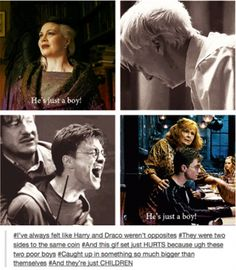 I've always felt the same. That's why Draco is one of my favorite characters; so much depth that a lot of people don't see. Harry Potter