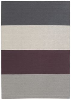 The Woodnotes FOURWAYS paper yarn carpet is a play of colors with nine different combinations. Wide Stripes, Carpets, Weaving, Pure Products, Play, Paper, Colors, Collection, Design