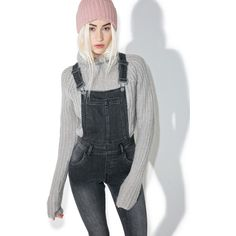 Cheap Monday Past Skinny Dungarees ($115) ❤ liked on Polyvore featuring jumpsuits, bib overalls, skinny overalls, gray jumpsuits, skinny leg jumpsuit and cheap monday
