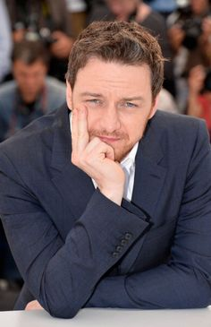 James McAvoy in Cannes 2014. I don't think I'd be able to speak if he was looking at me like that.