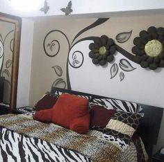 Ceiling Decor, Ceiling Design, Wall Design, Wall Decor, Bedroom Color Schemes, Bedroom Colors, Bedroom Decor, Room Paint, Wall Sculptures
