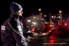 Finish arrival of Jeremie Beyou (FRA), skipper Maitre Coq, 3rd of the sailing circumnavigation solo race Vendee Globe, in Les Sables d'Olonne, France, on January 23rd, 2017 - Photo Vincent Curutchet / DPPI / Vendee GlobeArrivée de Jeremie Beyou (FRA), s