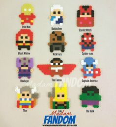 AVENGERS Party Favor Set of 12 Avengers Party by MadamFANDOM