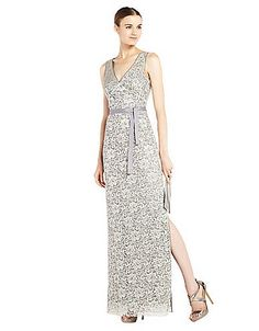 Nadir Metallic Lace Evening Gown | Lord and Taylor