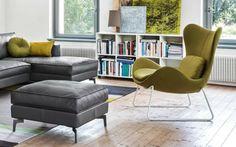 fauteuil de design élégant en nuances grises